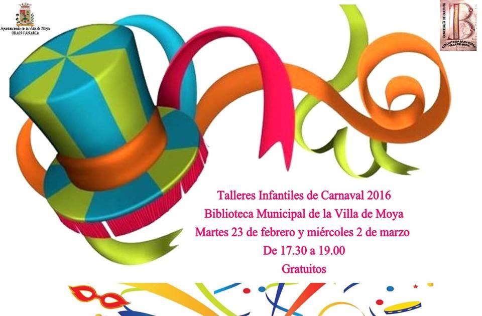 Nuevo taller de caretas de carnaval en la Biblioteca de Moya (Gran Canaria)