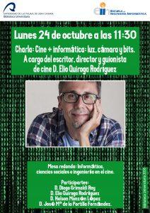 Elio Quiroga en la Biblioteca Universitaria de Las Palmas de Gran Canaria