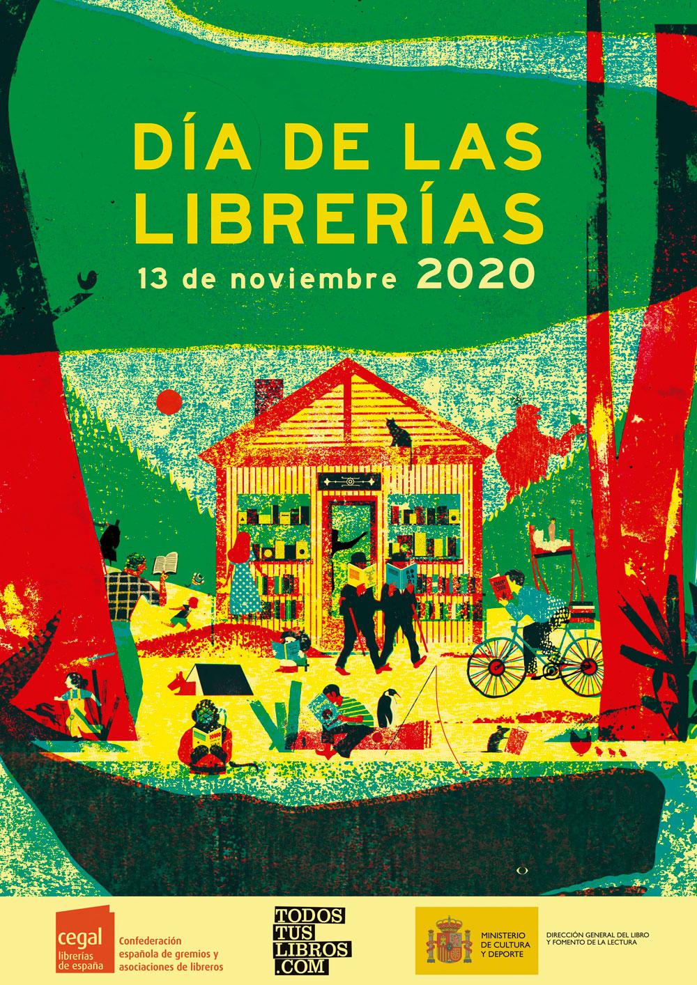 Cartel Día de las librerías 2020